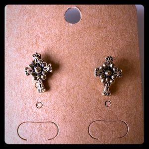 Lucky Brand Cross Earrings
